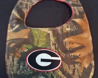 Georgia Bulldogs Custom Camouflage Baby Bib