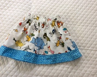 Baby girl Dr Seuss  skirt,toddler skirt