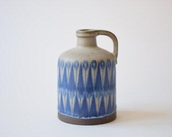 Vintage Danish - Thomas Toft - bottle vase - signed TT - collectible - Danish midcentury pottery