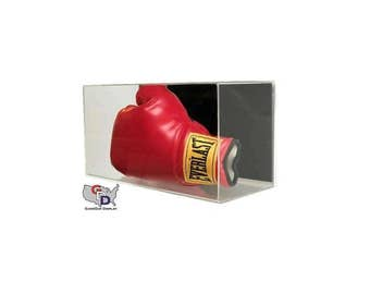 Acrylic Wall Mount Horizontal Boxing Glove Display Case by GameDay Display