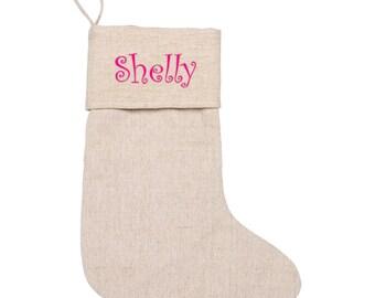 Personalized Stocking   Xmas Stocking   Boys Stocking   Girls Stocking   Monogrammed Christmas Stocking   Hanging Stockings   Juco Natural
