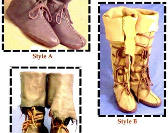 Medieval, Renaissance, Highlander, Nomad Boots, Moccasin, Shoes in 3 Styles - SparrowHawk Sewing Pattern #Y008
