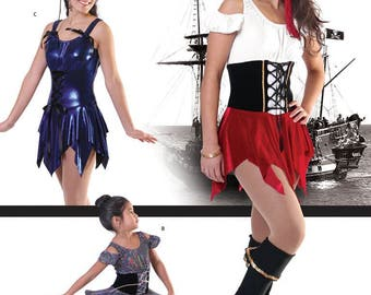 Jalie 2685 Pirate Figure Skating Dress & Skate Boot Cover Sewing Pattern in 22 Sizes for Women and Girls