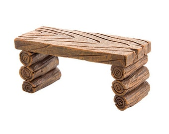 Fairy Garden Table - Log Table Fairy Garden Furniture Miniature Table Woodland Furniture Wood Table Camping Log Cabin Table Outdoor Garden