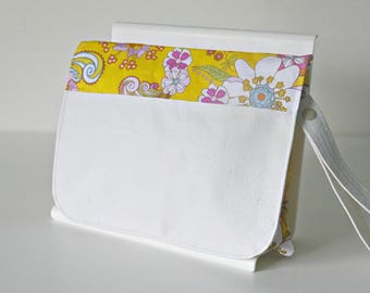 Flower power floral pattern nappy clutch, nappy wallet, diaper wallet, diaper clutch, nappy bag, diaper bag,