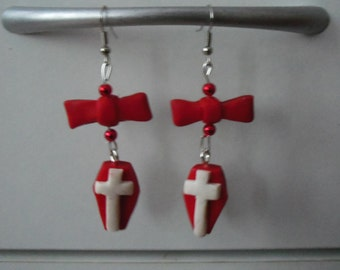 earring red coffin