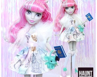 "Monster Doll Haunt Couture 2017 ""Scaris Vacation"" high fashion doll clothes dress"