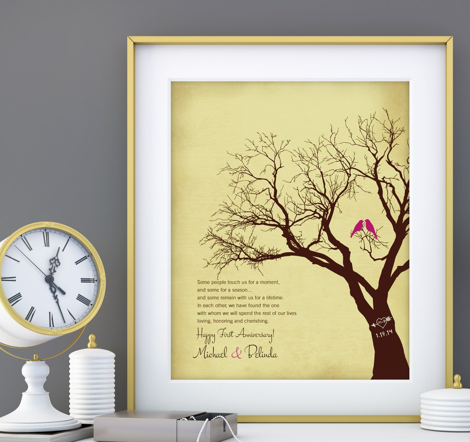 Wedding Gift Paper: First 1st Paper Wedding Anniversary Gift For Wife Husband