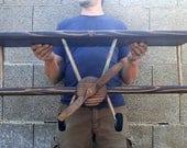 XL Hand Crafted Airplane Shelf, Airplane Decor, Wooden Airplane, Dark Stain Airplane, Custom Airplane Shelf