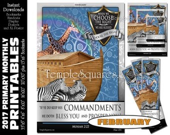 PRINTABLES Bundle Primary FEBRUARY 2017 Monthly Theme Poster Bookmarks Handouts Bulletin Board Sharing Time CTR Choose The Right Agency