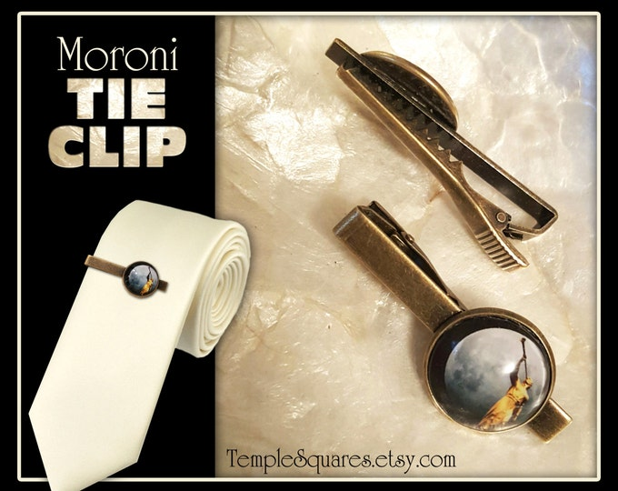 Mormon Moroni LDS Tie Clip - Christmas, Priesthood, 12 Year Birthday, Boys, Young Men, Bishopric, Counselors, Missionary Gift