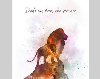 Aslan inspired Quote ART PRINT illustration, Narnia, Lion, Nursery, Wall Art, Home Decor, Book, Childrens Art, Gift
