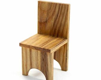Miniature Dining Chair, Dollhouse Chair, Wood Chair, Wooden Chair, Wood Miniature, Wooden Dollhouse Furniture