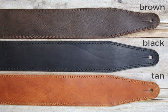 BS53 Leather Bass Strap or Guitar Strap