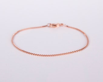 Fine Rose Gold Anklet Rosegolden Chain Rose gold Plated