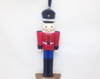 FREE SHIPPING CLEARANCE: Toy Soldier Ornament / Personalized Christmas Ornament