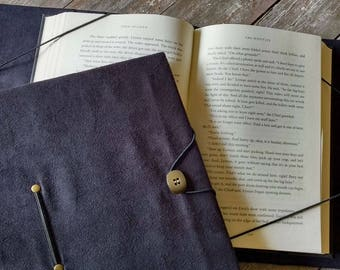 Extra large book holder, hands-free trade size book cover XXL black book cover, book privacy, gift for readers, reading aid - arthritis etc.