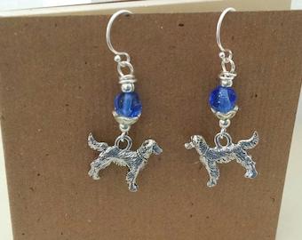 Dog Charm Earrings , Golden Retriever , Golden Retriever Jewelry , Dog Lover Gift , Dog Mom jewelry , Dog Breed Charm Retriever , Dog Gift
