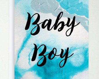 BABY BOY CARD // Printed card // Greeting card // Gift card // Gift // Present // Special occasion // Baby boy // Cute // Birthday