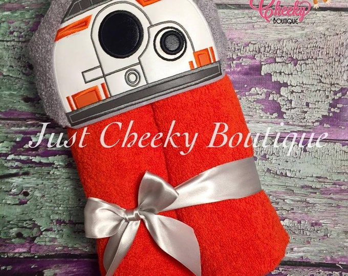 Robot BB Inspired Hooded Towel - BB8 Robot Droid - Star Wars