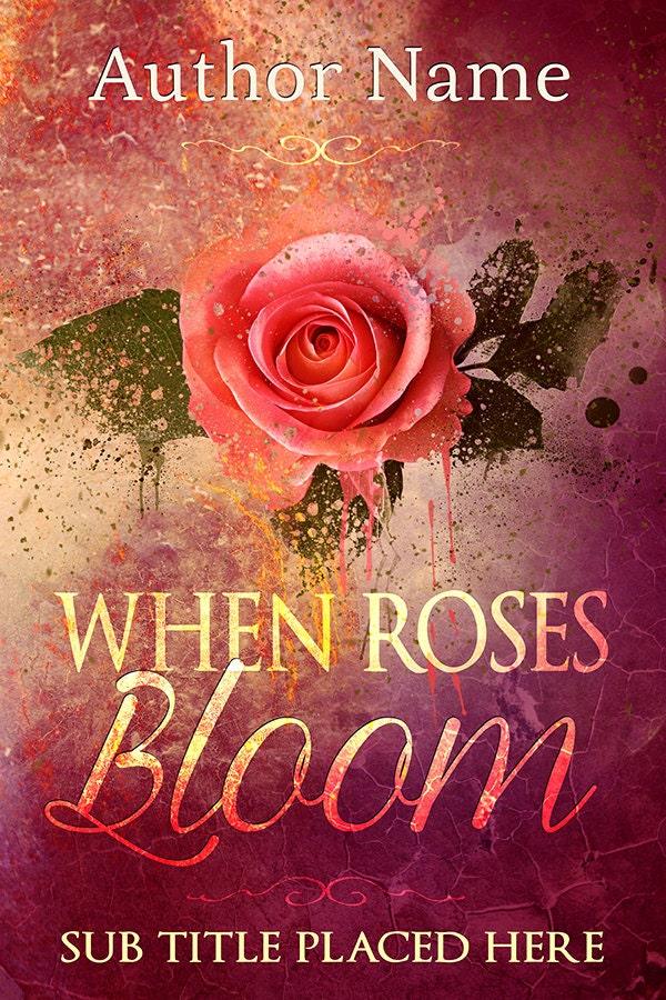 Book Cover Forros S : Book cover designpremade design pink rose