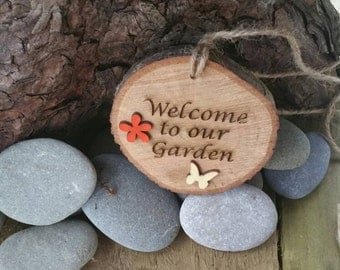 Rustic Hanging Garden Sign