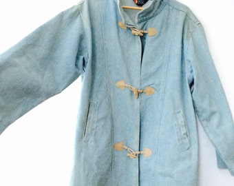Boxy 90s denim Toggle Coat