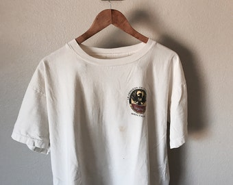 Off White Distressed Imperial Beer Tee