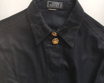 Gianni Versace Couture western style shirt Vintage