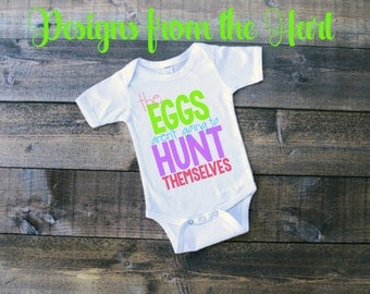 Easter egg hunt onesie/bodysuit