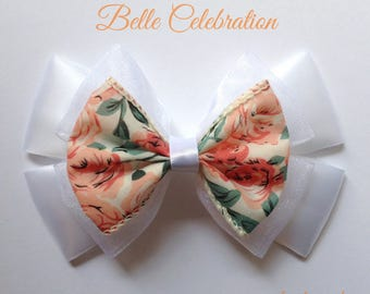 belle beauty and the beast wedding celebration hair bow