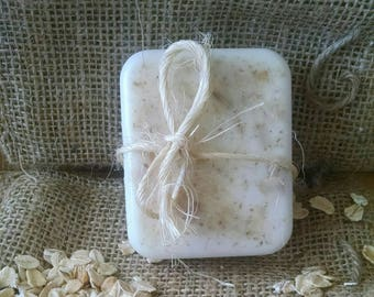 Natural Goat Milk Soap Oatmeal and Honey