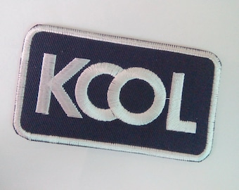 """Embroidered KOOL Iron on Patch Badge (1 7/8""""x 3 1/4"""")"""