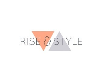 Rise & Style | Premade DIY Photoshop logo design template