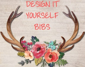 YOU Choose ~ Designer/Boutique Bibs ~ Design Your Own ~ Any Fabric