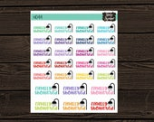 Mom Life Planner Stickers Finally Showered  Stickers Coffee Date Stickers Adulting Planner Stickers Die Cut Stickers #044
