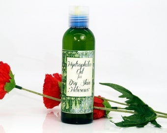 Hydrophilic oil with organic hibiscus oil for dry skin, hydrophilic oil, cleanser for dry skin, dry skinwash, dehydrated skin cleanser