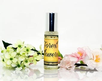 "Women perfume ""Forest Flowers"", floral perfume, perfume for women, fresh perfume, green perfume"