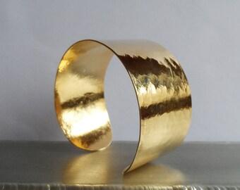 Gold plated cuff wristband
