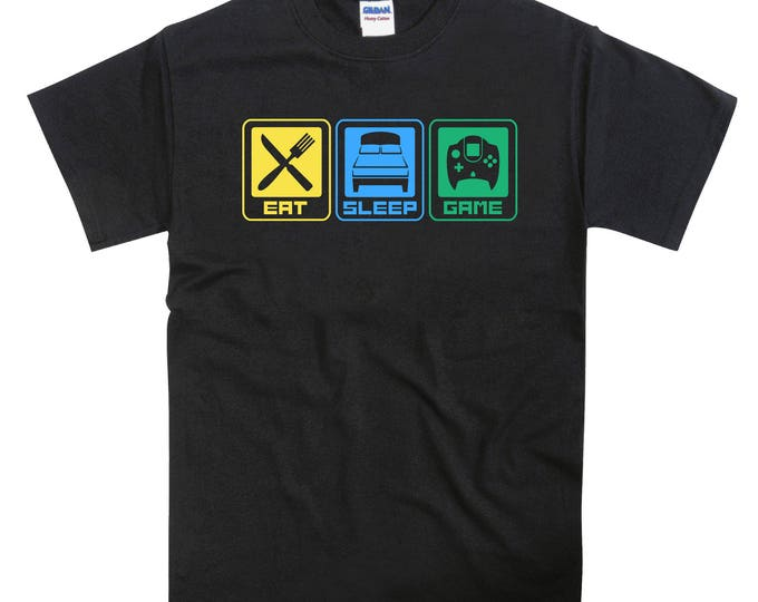 Eat Sleep Game Dreamcast Tshirt
