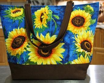 T.E.G. / Tote / Purse / Bag / Sunflower Bag / Sunflower Tote / Sunflower Purse /Sunflower / Flower