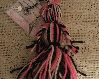 Adorable yarn Doll Keychain