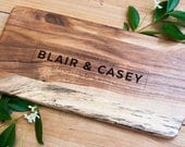 Personalised Laser Engraved Chopping Board | Square or Paddle Boards