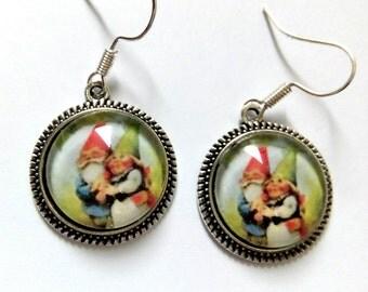Earrings kawaii gnome gnomes fairy