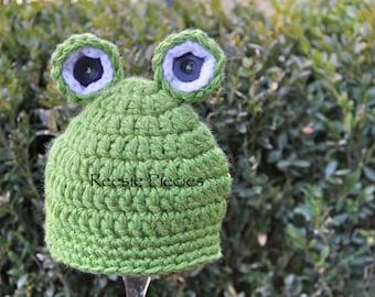 Baby Frog Hat Set, Frog Baby Shower Gift, Frog Photo Prop Set, Newborn Frog Hat, Newborn Frog Hat Set, Newborn Frog Booties, Frog Booties