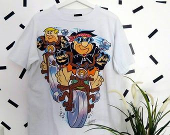 Vintage 90's The Flintstones  shirt size L