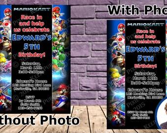 Mario Kart Birthday Party Invitation - 2 Options!