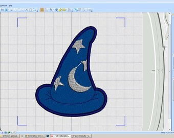 Embroidery Iron-on Patch - Sorcerer Hat