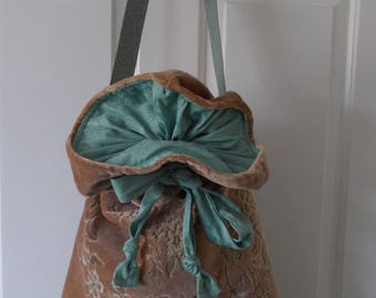 Carpet Drawstring Bag with adjustable strap