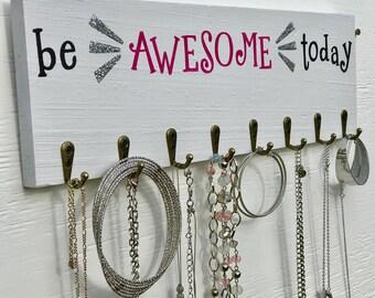Jewelry Wall Rack - Accessory Wall Rack - Jewelry Organization - Jewelry Display Rack - Accessory Hanger - Jewelry Hanger - Jewelry Storage
